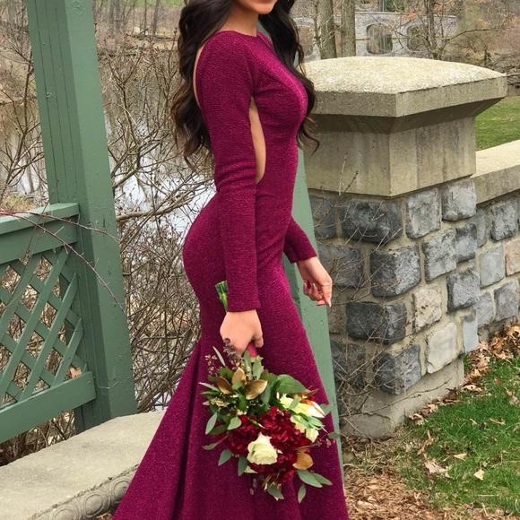 Jovani Dresses Burgundy Glitter Prom Dress Poshmark